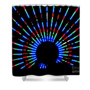 Gama Ray Light Burst Abstract Shower Curtain