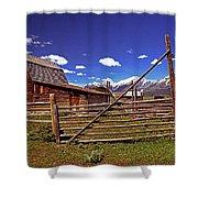 Gambrel Barn And Tetons Shower Curtain