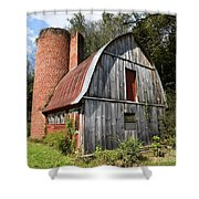 Gambrel-roofed Barn Shower Curtain