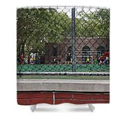 Game Behind The Fence Shower Curtain