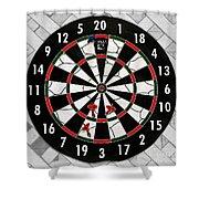 Game Of Darts Anyone? Shower Curtain by Kaye Menner
