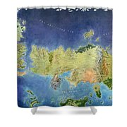 Game Of Thrones World Map Shower Curtain