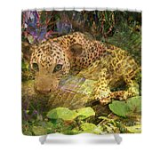 Game Spotting - Square Version Shower Curtain