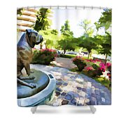 Gamekeepers Dog Park Shower Curtain
