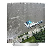 Gaming On The River Boats Shower Curtain