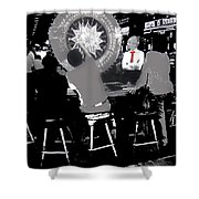 Gaming Tables Interior Binion's Horseshoe Casino Las Vegas Nevada 1979-2014 Shower Curtain