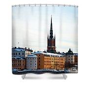 Gamla Stan Winter Shower Curtain