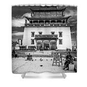 Gandantegchenling Monastery Shower Curtain