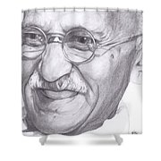 Gandhi Shower Curtain
