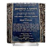 Gandhi Plaque Shower Curtain