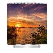 Gandy Sunset Shower Curtain