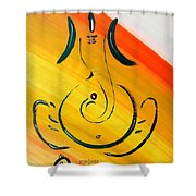 8 Ganesh Ekdhantaya Shower Curtain