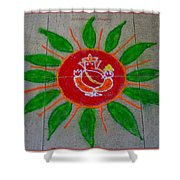 Ganesh Rangoli Shower Curtain