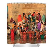 Ganges Pilgrims Shower Curtain