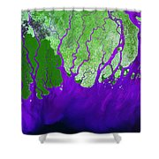 Ganges River Delta Shower Curtain