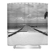 Gangplank Of Perfection Black And White Shower Curtain