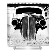 Gangster Car Shower Curtain by Cat Connor