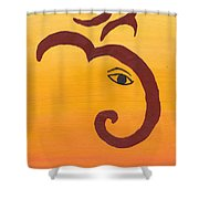 Ganpati- Om Shower Curtain