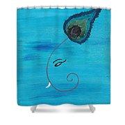 Ganpati-peacock Shower Curtain