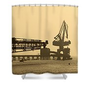 Gantry Crane In Port Shower Curtain
