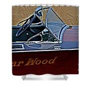 Gar Wood Boat Shower Curtain