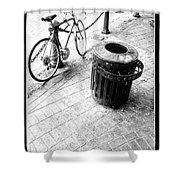 Garbage Bike  Shower Curtain