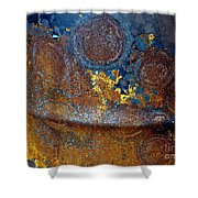 Garbage Can Abstract Shower Curtain