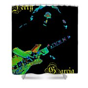 Garcia Rocks At Winterland 1977 Shower Curtain