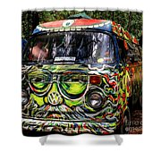 Garcia Vw Bus Shower Curtain