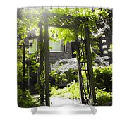 Garden Arbor In Sunlight Shower Curtain by Elena Elisseeva
