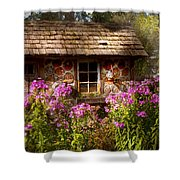 Garden - Belvidere Nj - My Little Cottage Shower Curtain by Mike Savad