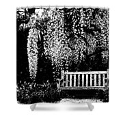 Garden Bench  By Zina Zinchik Shower Curtain