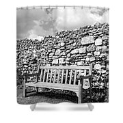 Garden Bench Shower Curtain by Chevy Fleet