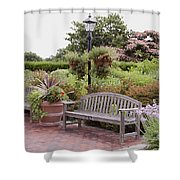 Garden Benches 6 Shower Curtain