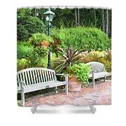 Garden Benches 7 Shower Curtain
