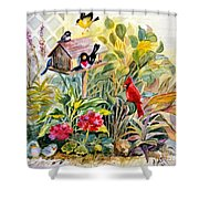 Garden Birds Shower Curtain