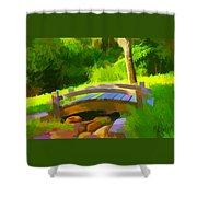 Garden Bridge Shower Curtain