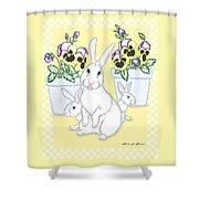 Garden Bunnies Shower Curtain
