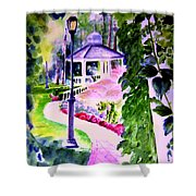 Garden City Gazebo Shower Curtain
