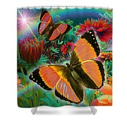 Garden Day Shower Curtain by Alixandra Mullins