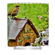 Garden Decor With Song Shower Curtain