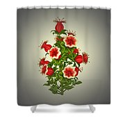 Garden Flowers 8 Shower Curtain