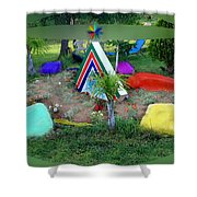 Garden Galaxy Shower Curtain