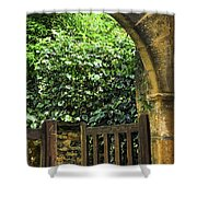 Garden Gate In Sarlat Shower Curtain by Elena Elisseeva
