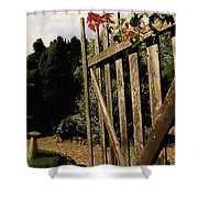 Garden Gate Welcome Shower Curtain
