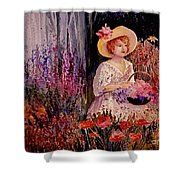 Garden Girl Shower Curtain
