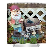 Garden Gnome - Square Shower Curtain