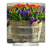 Garden In A Bucket Shower Curtain by Eti Reid