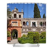 Garden In Alcazar Palace Of Seville Shower Curtain