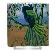 Garden Jewel 1 Hand Embroidery Shower Curtain